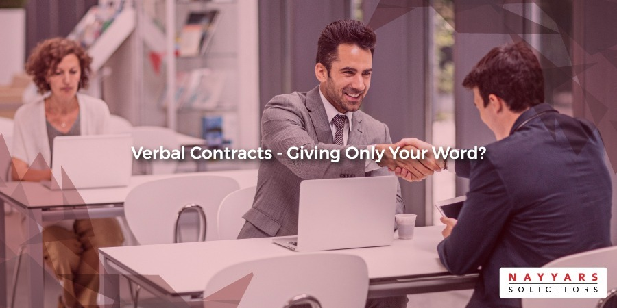 Verbal Contracts – Giving Only Your Word