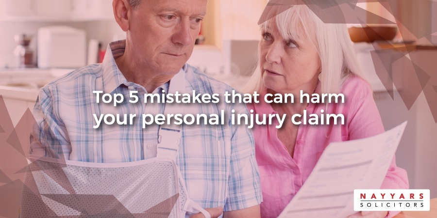 mistakes that can harm your personal injury claim