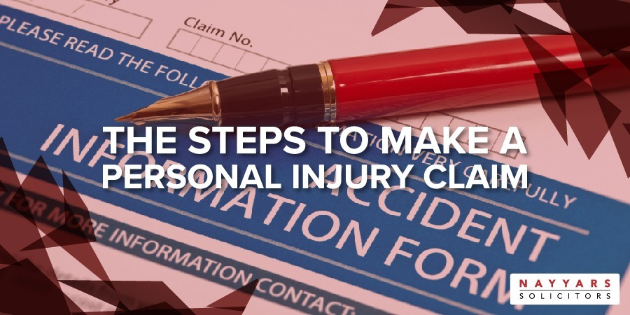 The steps to make a personal injury claim