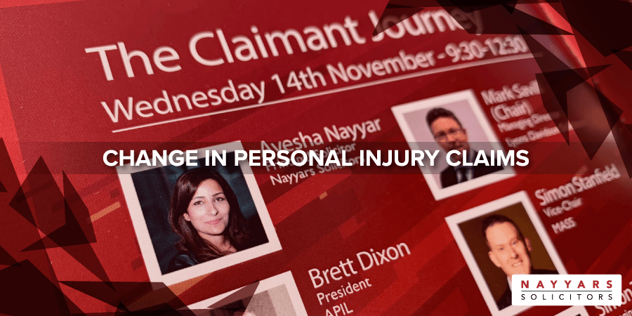 Change in personal injury claims