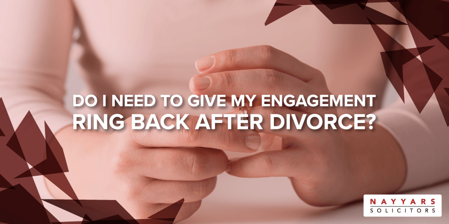 give my engagement ring back after divorce