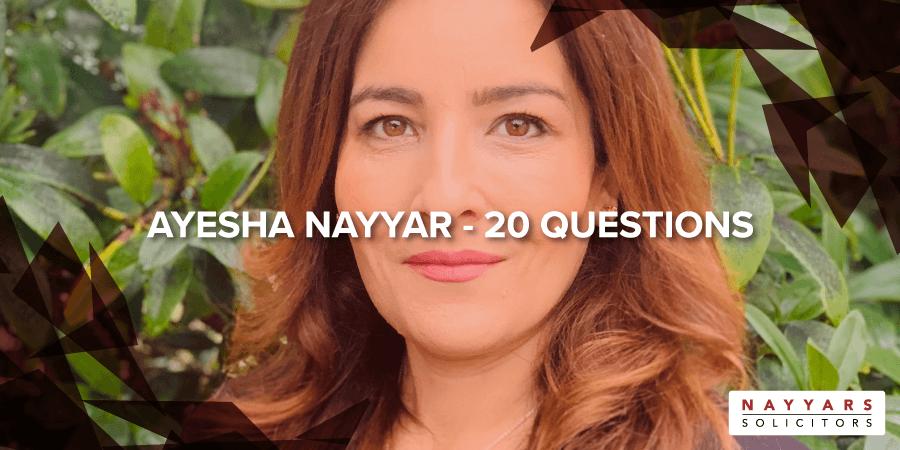 Ayesha Nayyar - 20 Questions